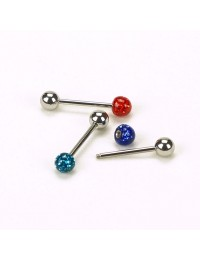 P034-Lot 3 piercings langues boules