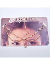 H023-Bijoux de tête Bollywood carrés