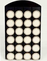 12 paires de B.O boutons blanc