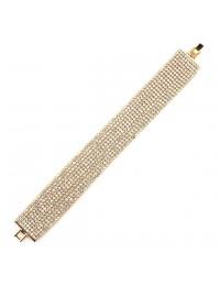 B178-Bracelet 10 rangs strass