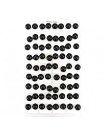 E013 - 36 paires de B.O boules noires
