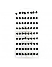 E015- 36 paires de B.O puces boules noires