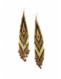 E506-Boucles d'oreilles longues à perles