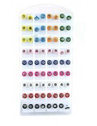 E584-36 paires de boucles tendances