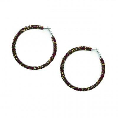 boucles d'oreilles  strass cercles tendance automne