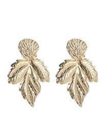 boucles d'oreilles métal feuilles