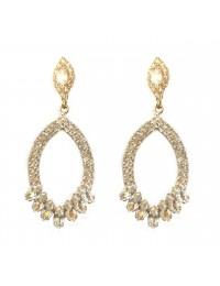 boucles d'oreilles strass ovales