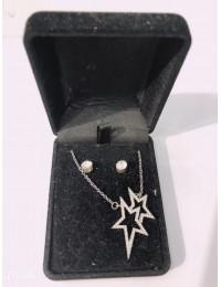 N569-parure collier pendentf